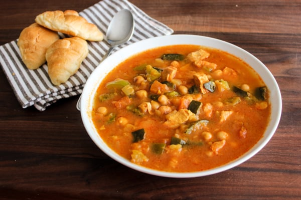 Pressure Cooker Chicken Chick Pea and Zucchini Stew
