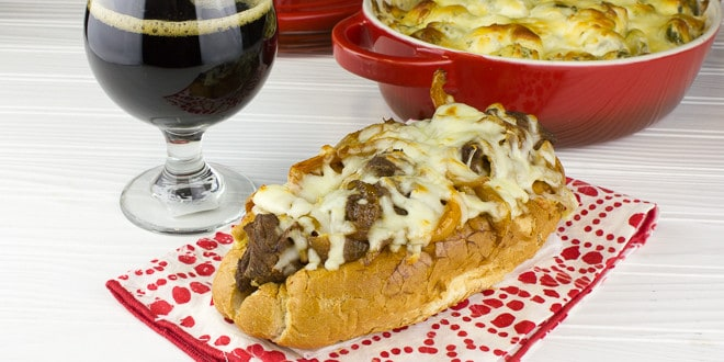 Beer Braised Beef and Swiss Melt