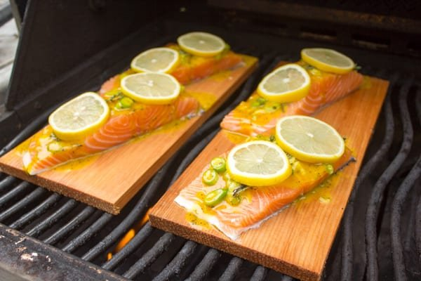 Cedar Plank Salmon with Honey Mustard Sauce-3