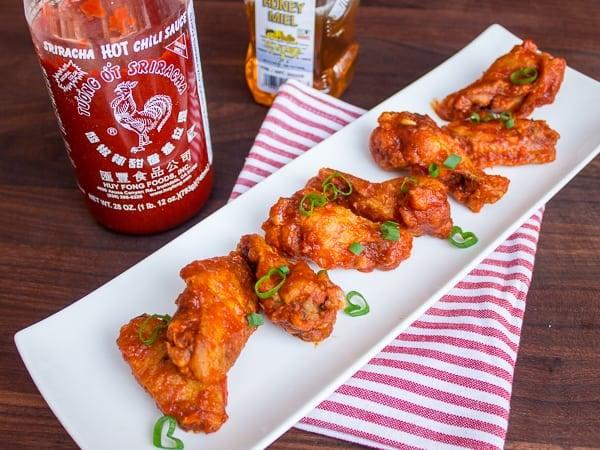 Honey Sriracha Chicken Wings-5