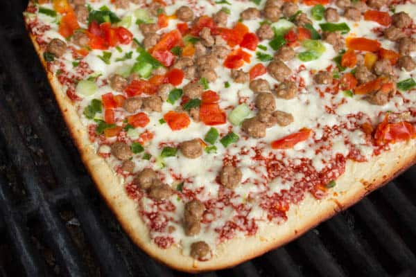 Delissio Pizza on the Gas Grill-6