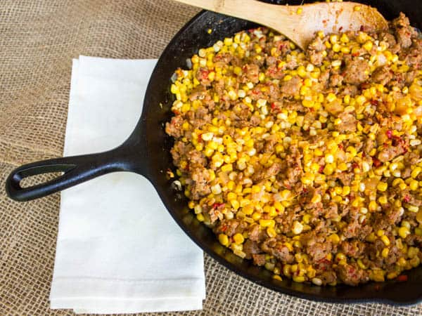 Skillet Corn and Chorizo-4
