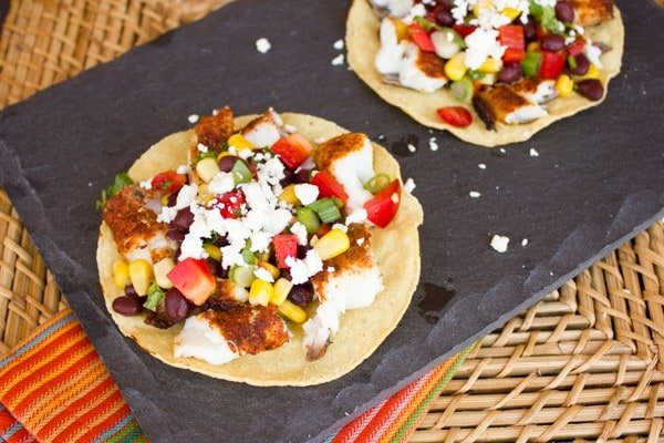 Grilled Catfish Corn and Black Bean Tostadas-7
