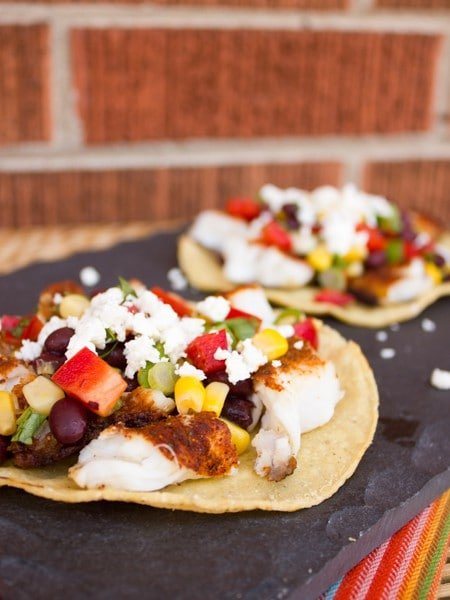Grilled Catfish Corn and Black Bean Tostadas-8