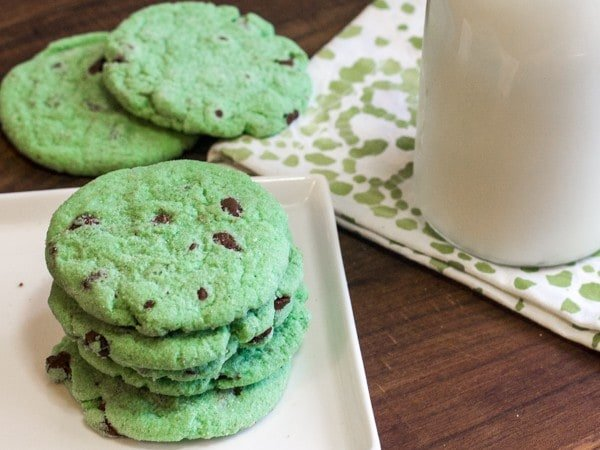 Mint Chocolate Chip Cookies-3