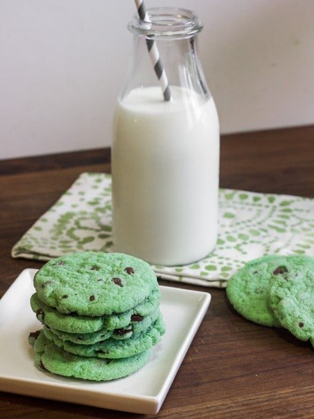 Mint Chocolate Chip Cookies-7