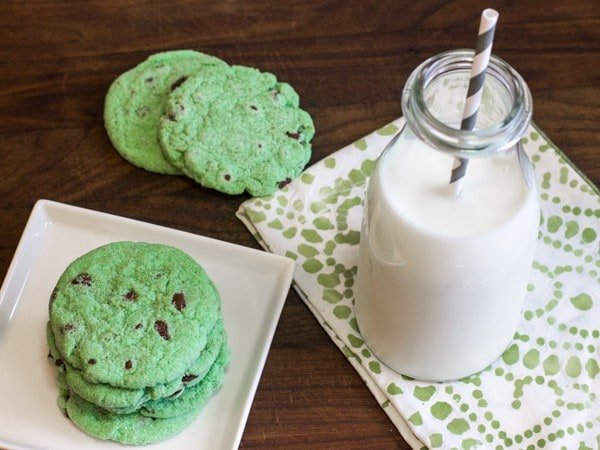 Mint Chocolate Chip Cookies-8