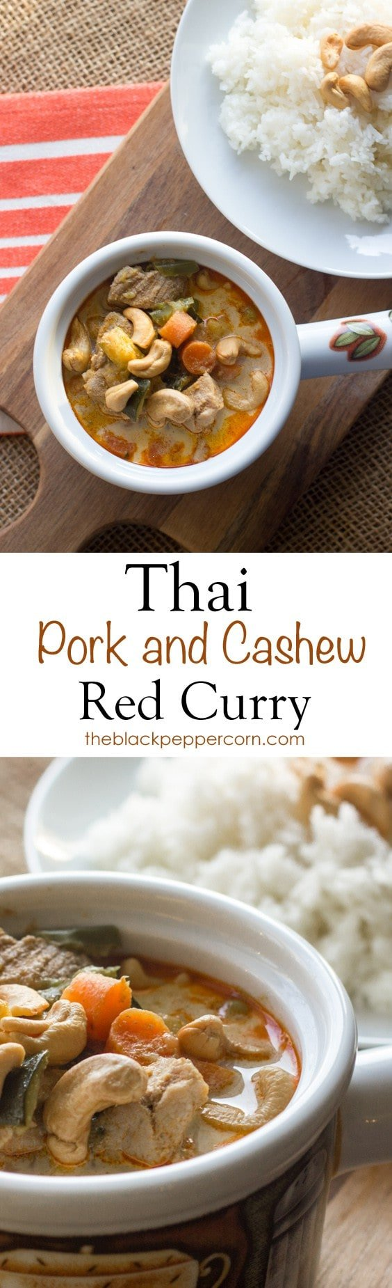 Thai Pork and Cashew Red Curry