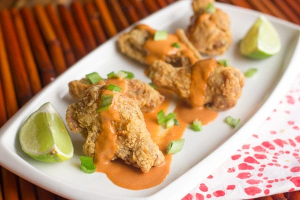 Thai Red Curry Chicken Wings