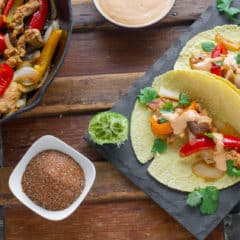 Never buy store-bought fajita mix again with this homemade fajita seasoning recipe, using pantry spices for chicken or steak fajitas or tacos.