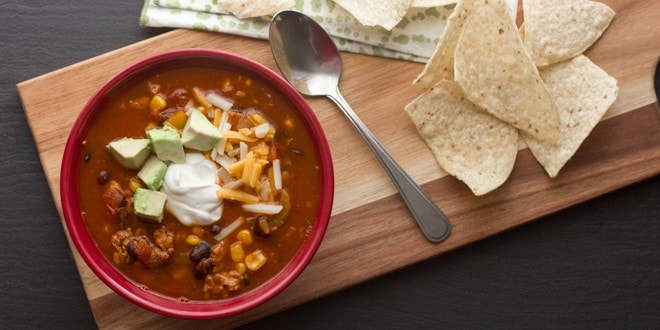 Turkey Chili with Black Beans and Corn Recipe