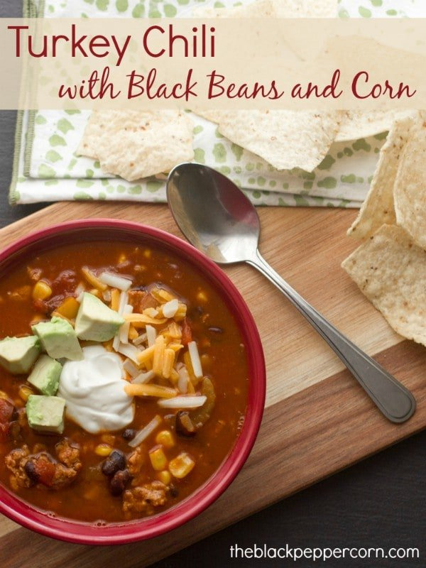Turkey Chili with Black Beans and Corn pm2