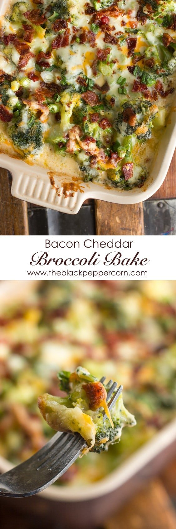 Bacon Cheddar Broccoli Bake