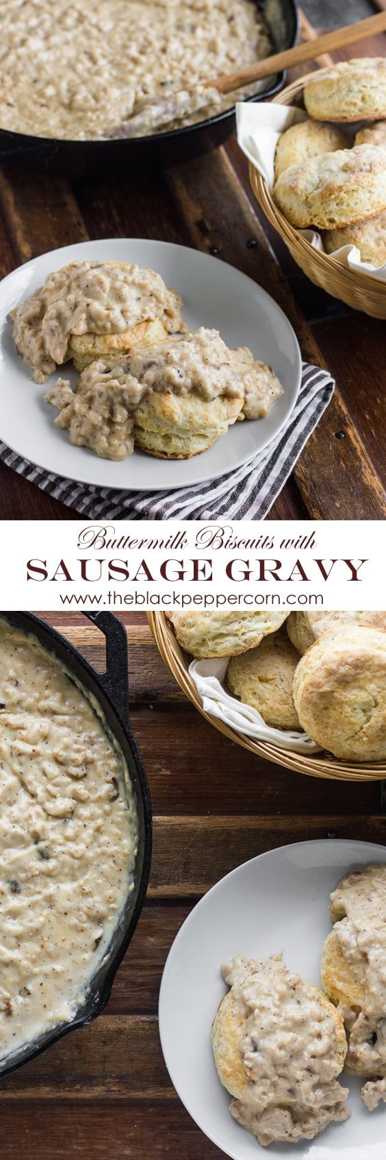 Sausage Gravy and Buttermilk Biscuits