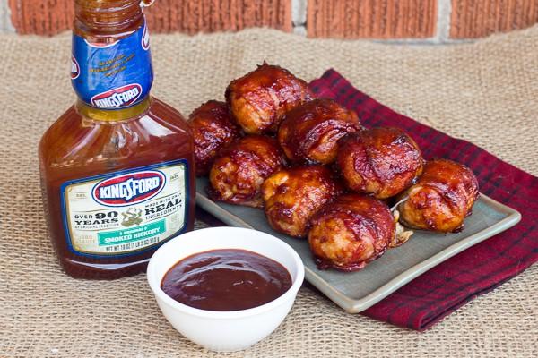 Cheesy BBQ Sausage Bites