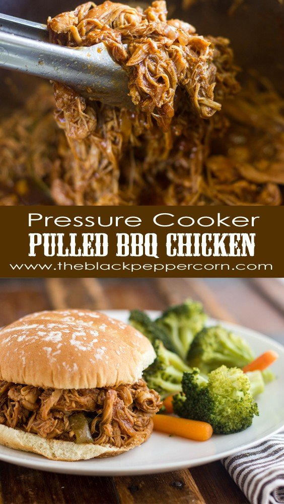 Pressure Cooker Pulled BBQ Chicken