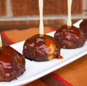 Smoked BBQ Beef Bombs meatballs