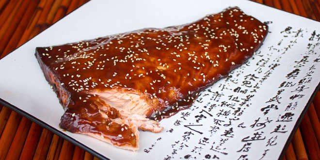 Smoked Salmon With Orange Hoisin Glaze