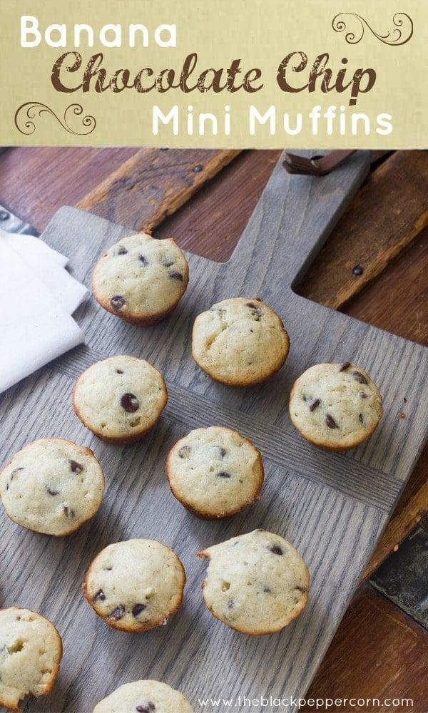 chocolate chip banana muffins mini