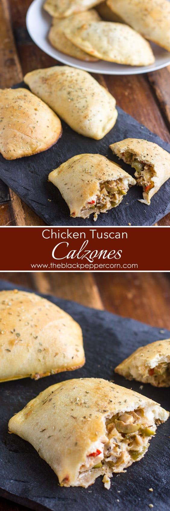 Chicken Tuscan Calzones
