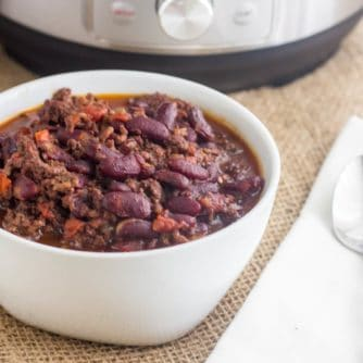 Pressure Cooker Chili Instant Pot with Dry Beans