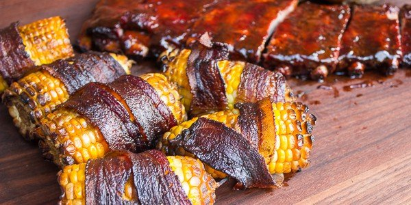 Smoked Corn On The Cob Wrapped In Bacon Recipe