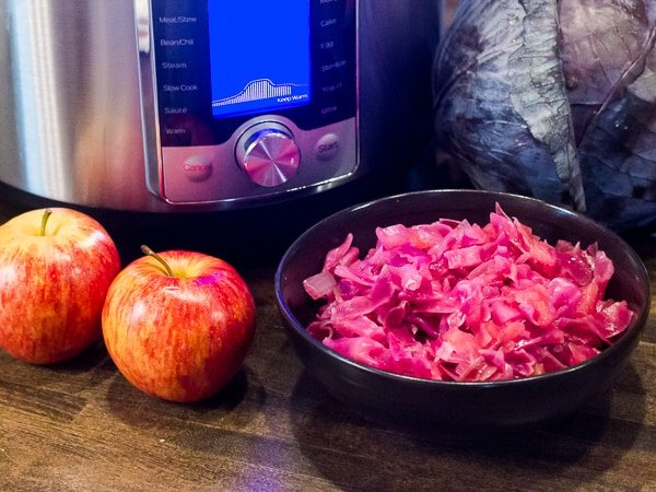 Braised Red Cabbage And Apples Made In Pressure Cooker