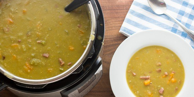 Split Pea Soup Pressure Cooker with Ham Recipe