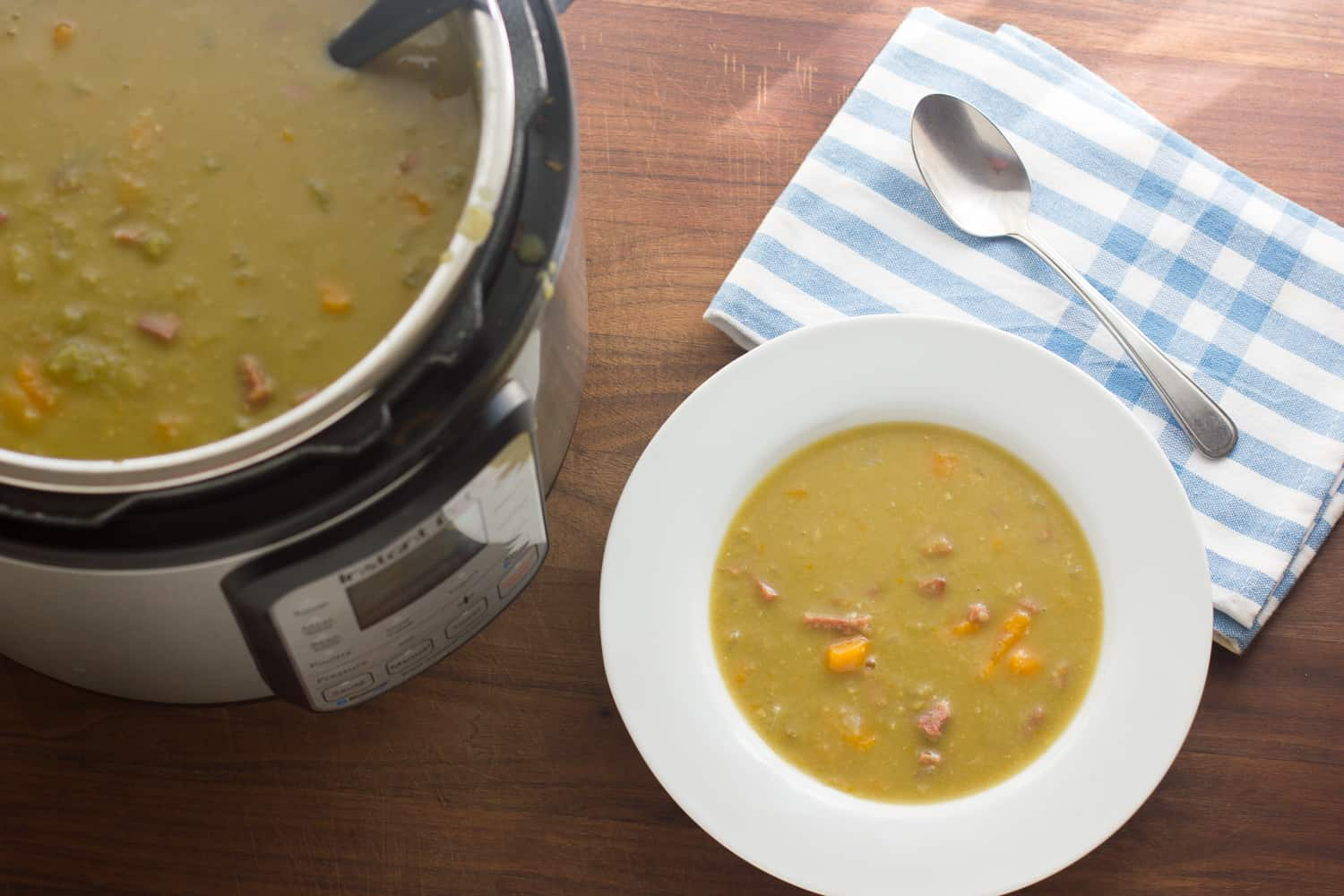 how to cook split pea soup instapot