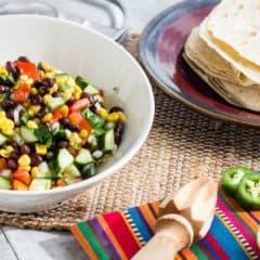 Mexican Fiesta Salad Black Bean and Corn