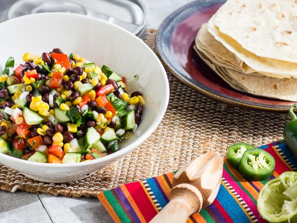 Mexican Fiesta Salad Black Bean and Corn