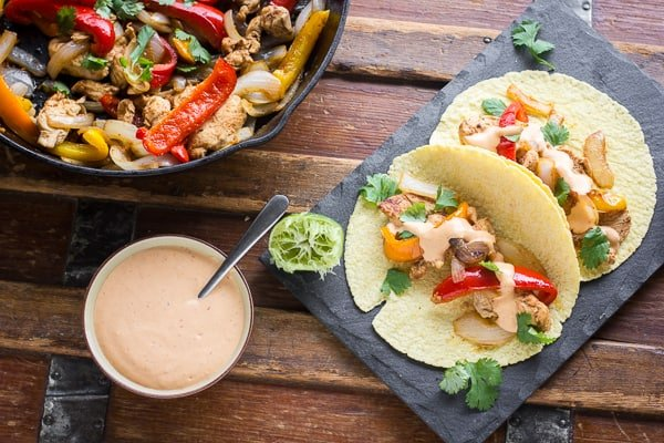 Chipotle Lime Cream Sauce for Fajitas or Tacos