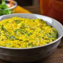 Masoor Dal with Spinach Palak Recipe