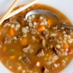 Smoked Beef Barley Soup Recipe