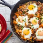 Baked Eggs Recipe in a Cast Iron Skillet