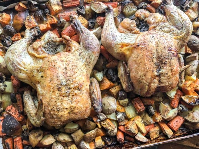 Roast Whole Chicken and Vegetables - One Pan Meal