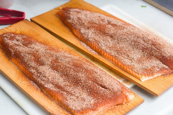 How to cedar plank grill rainbow trout steelhead salmon
