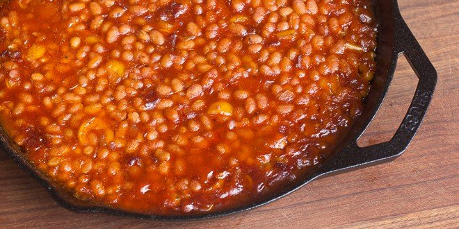 Smoked Baked Beans In A Cast Iron Skillet Recipe