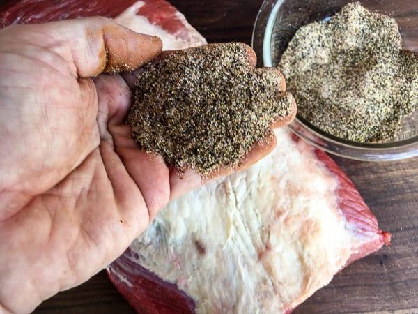 How to smoke a beef brisket rub