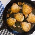 Cast iron skillet chicken thigh recipe