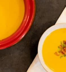 creamy butternut pumpkin coconut milk soup recipe