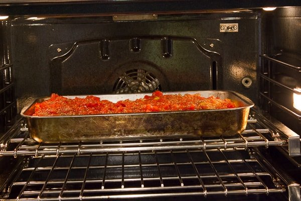 Italian Style Chicken Cacciatore baked in an oven