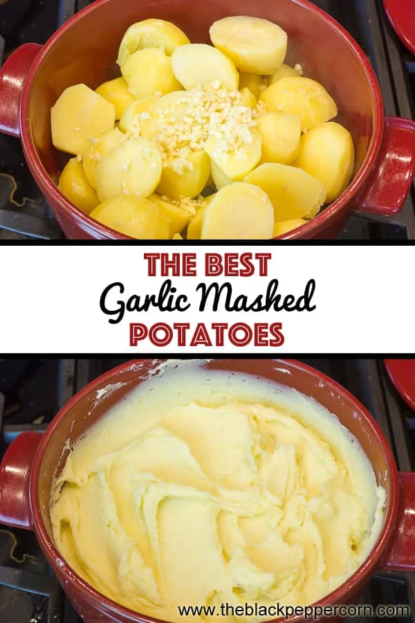 Easy Instructions for how to make the best creamy garlic mashed potatoes recipe