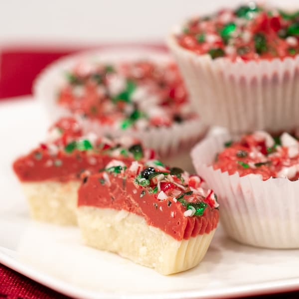 Candy Cane White Chocolate Candy Cups