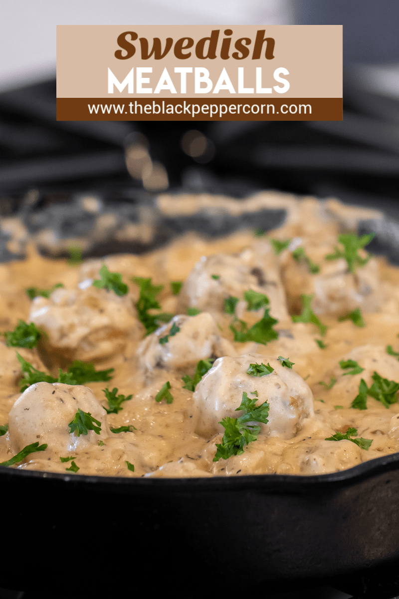 Make classic Swedish meatballs with cream of mushroom soup, milk and sour cream. Great with beef, chicken, turkey or pork meatballs in this creamy sauce gravy.