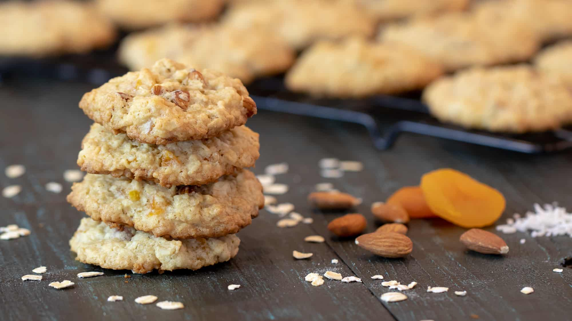 Oatmeal Apricot Almond and Coconut Cookies