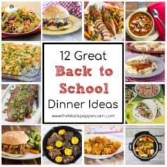 Quick and easy dinner ideas that make meal prep easy during back to school week! Each recipe will make a complete meal that is both healthy and delicious!