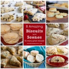 This biscuit and scone recipe collection, has some that are both sweet and savoury. Buttery and flakey, these are easy to make at home!