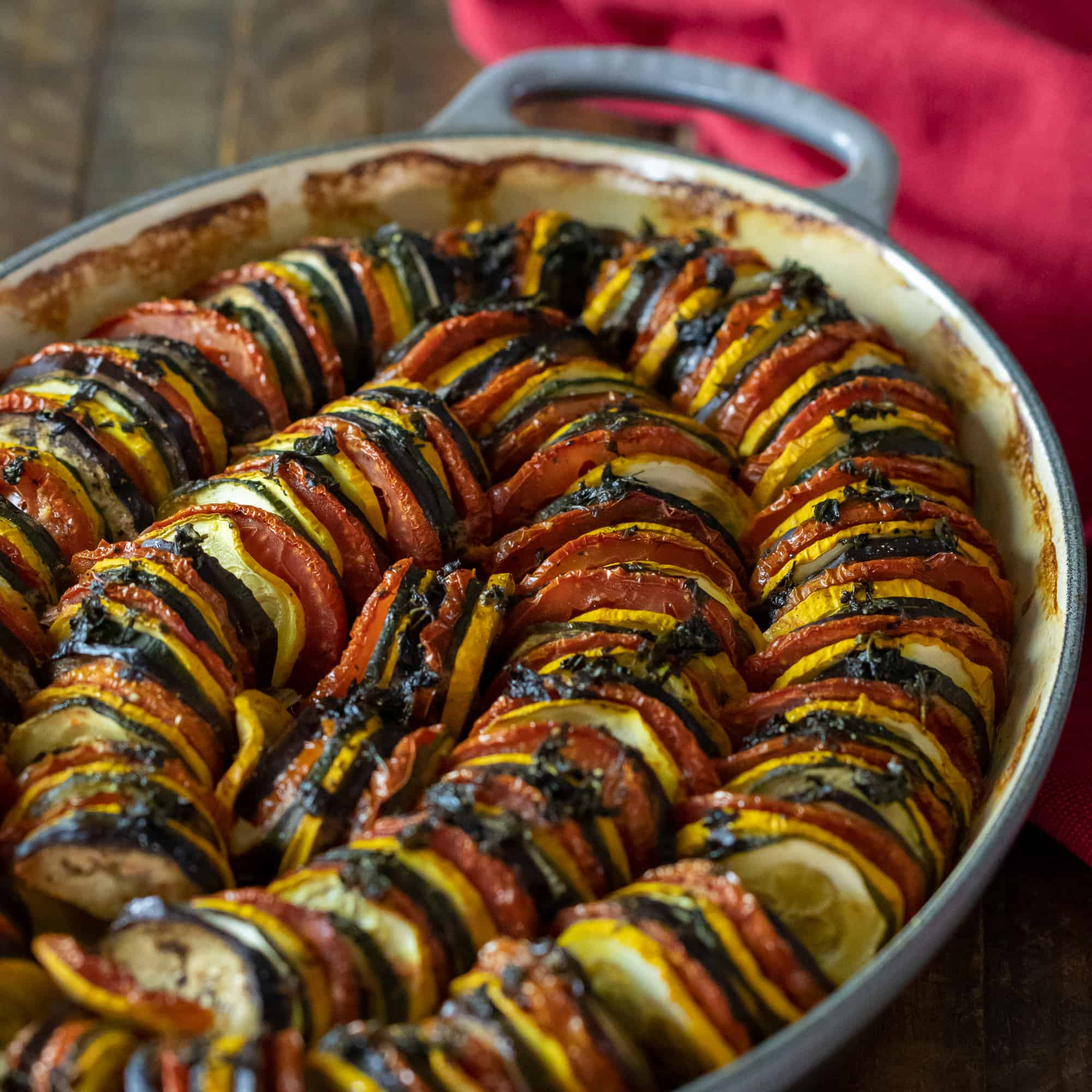 Baked Ratatouille How To Bake In The Oven The Black Peppercorn
