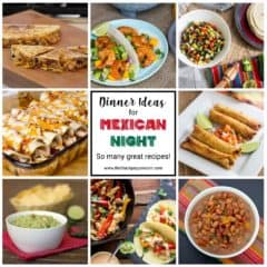 A collection of great Mexican recipes including tacos, enchiladas, fajitas, flautas, guacamole, pico de gallo, pinto beans and more. Great for Taco Tuesday.